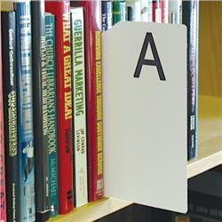 Brodart Sign Shop Alphabetical Shelf Marker Set. $325/26 ...