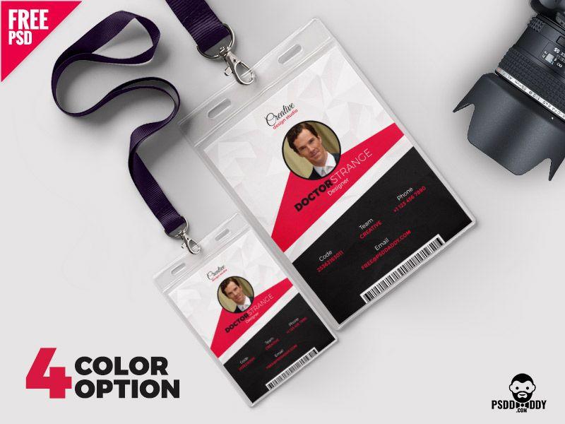 Photo Identity Card Template Set Pinterest Card Templates