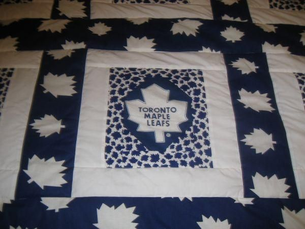 Toronto Maple Leaf Quilt - $125 (Fowlers Corners) | Toronto maple ...