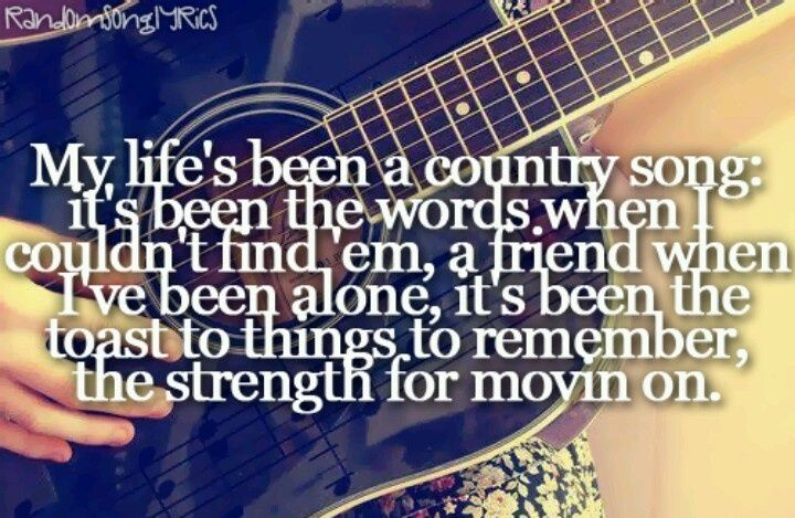 My life is probably the greatest country song ever ...