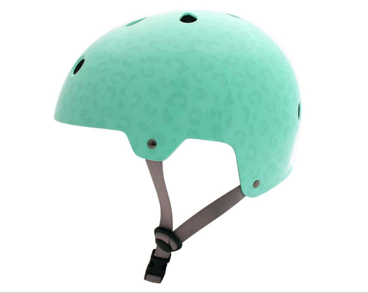 Kingston Leopard Print Helmet Mint With Images Cycling