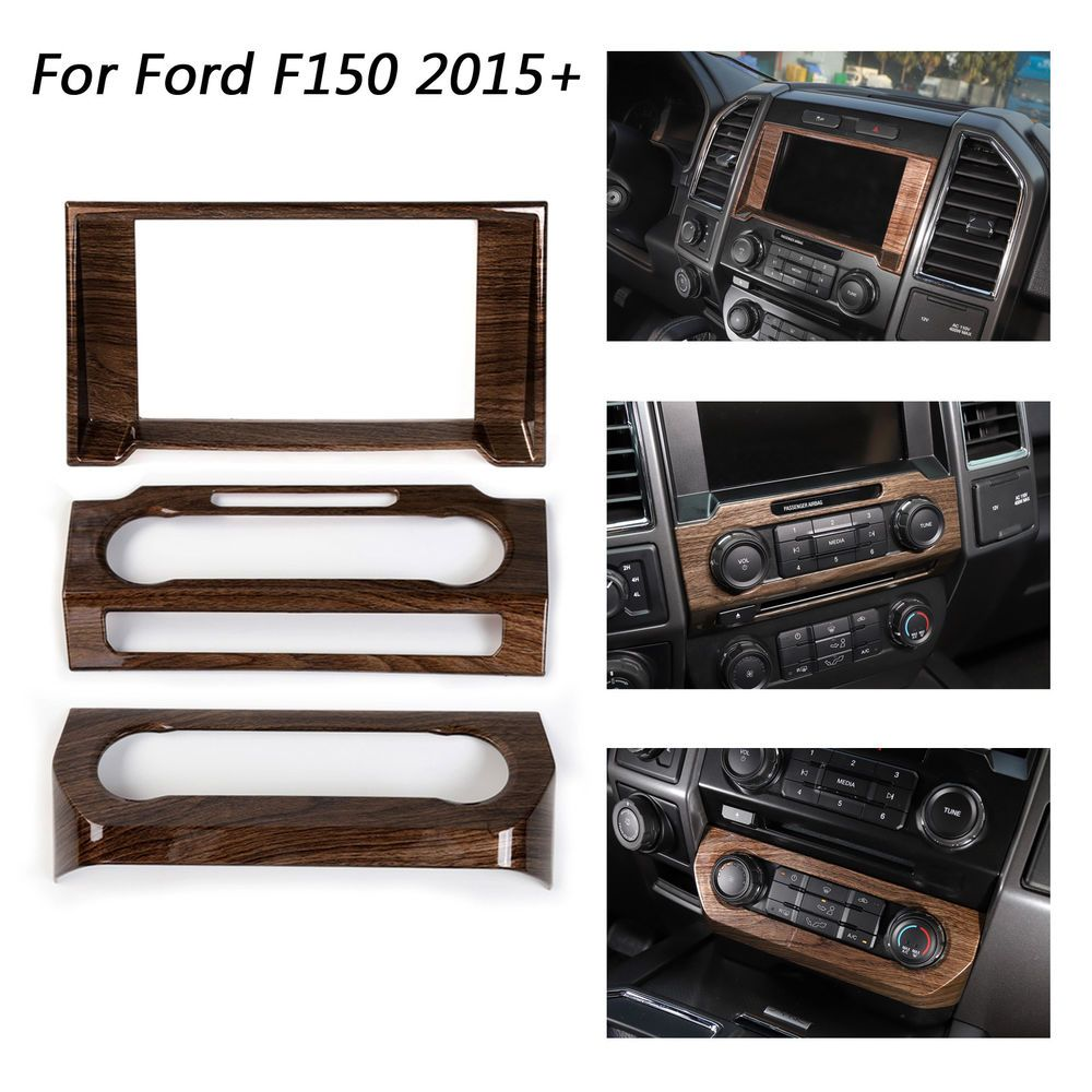 hight resolution of brown console center dashboard cover trim frame kit for ford f150 2015 2018 bs1 ebay link
