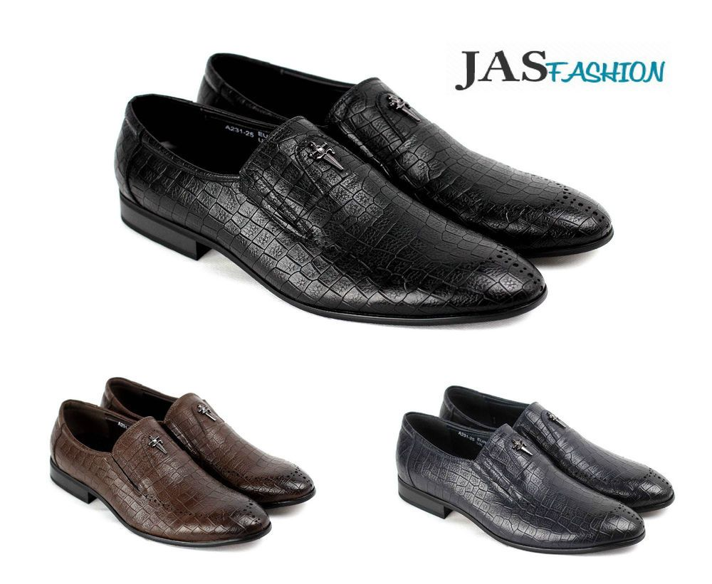 0ebd98f75c8f Mens Smart Dress Slip On Formal Shoes Fashion Office Designer Casual Sizes  NEW