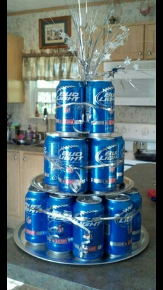 Bud Light Decor Enrique Bday 21st Birthday Decorations Beer Can