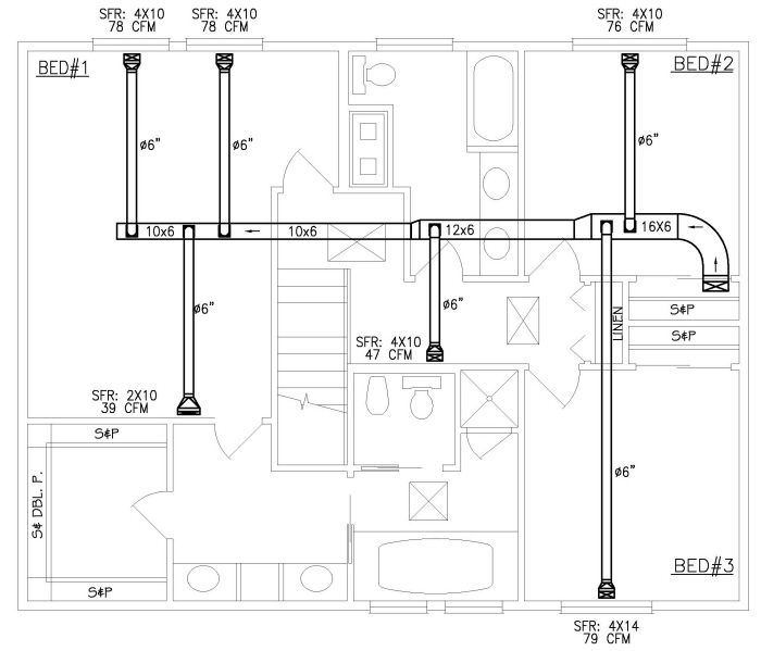 Hvac Plan Drawing