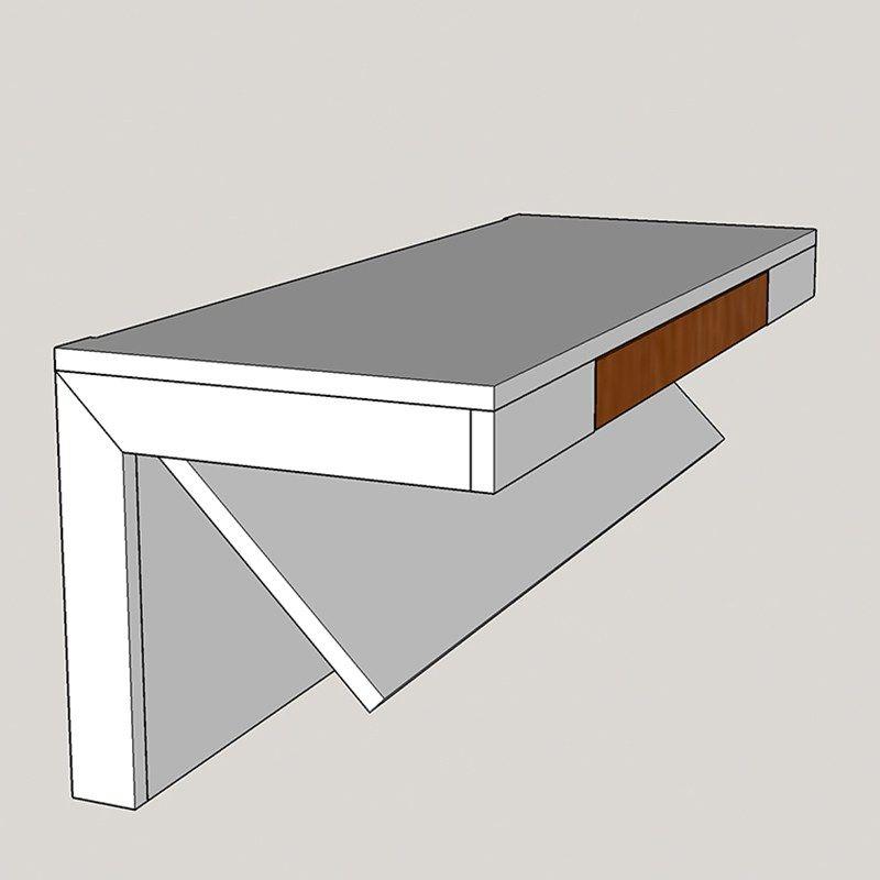 Wall Mounted Desk With Secret Compartment Pdf Plan Diy Creators Wall Mounted Desk Diy Standing Desk Secret Compartment Furniture