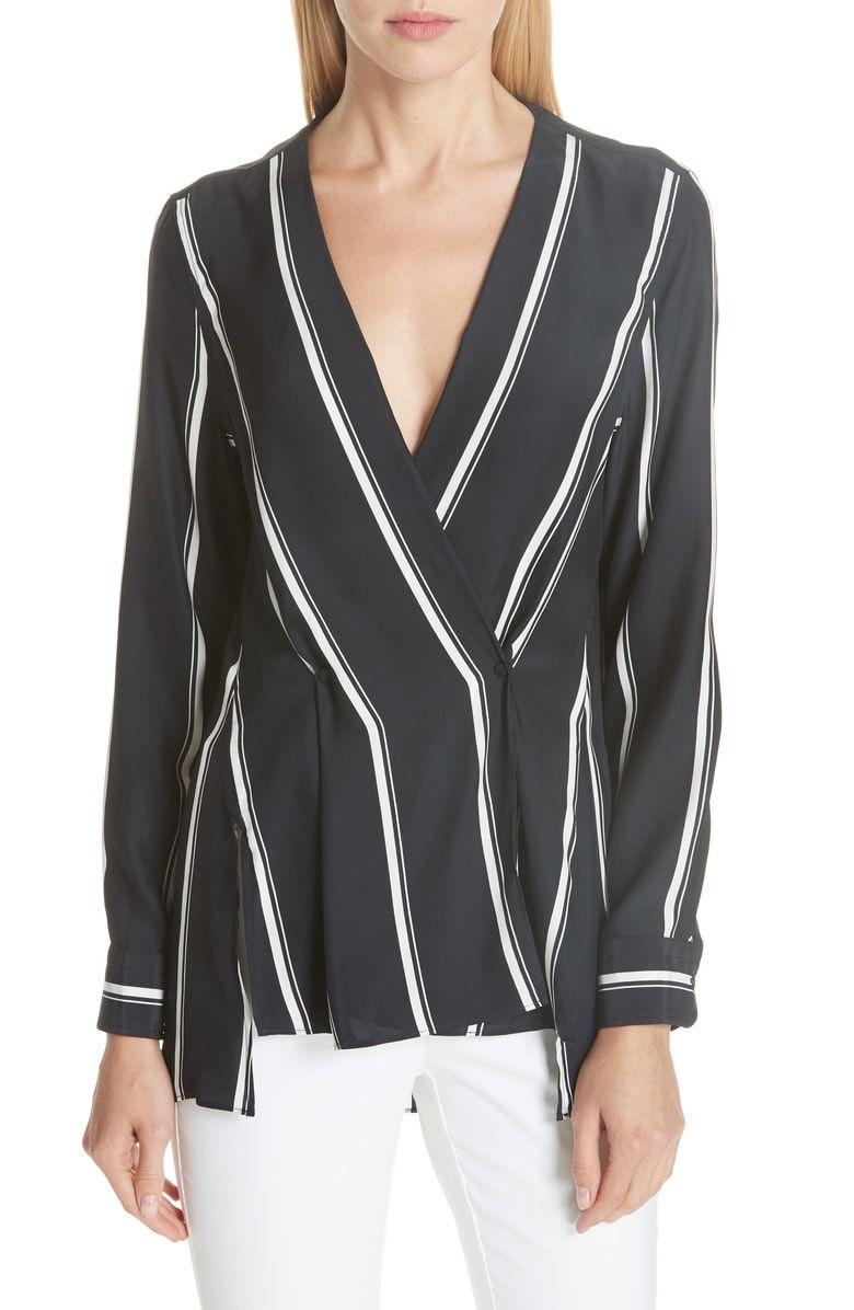 df18163110a6b2 Debbie Stripe Silk Blouse