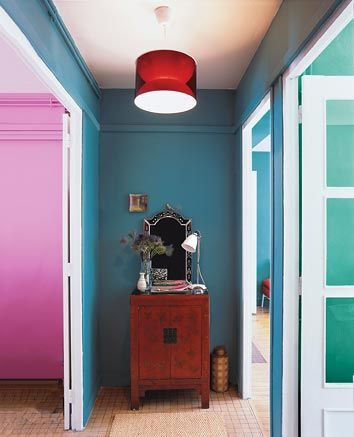 Benjamin Moore Bella Blue Powder Room