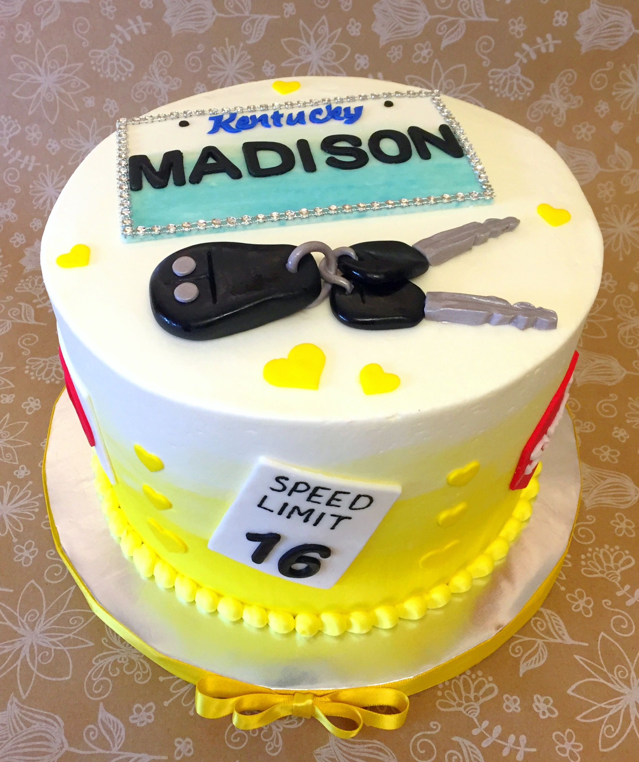 Drivers License Sweet 16 Cake