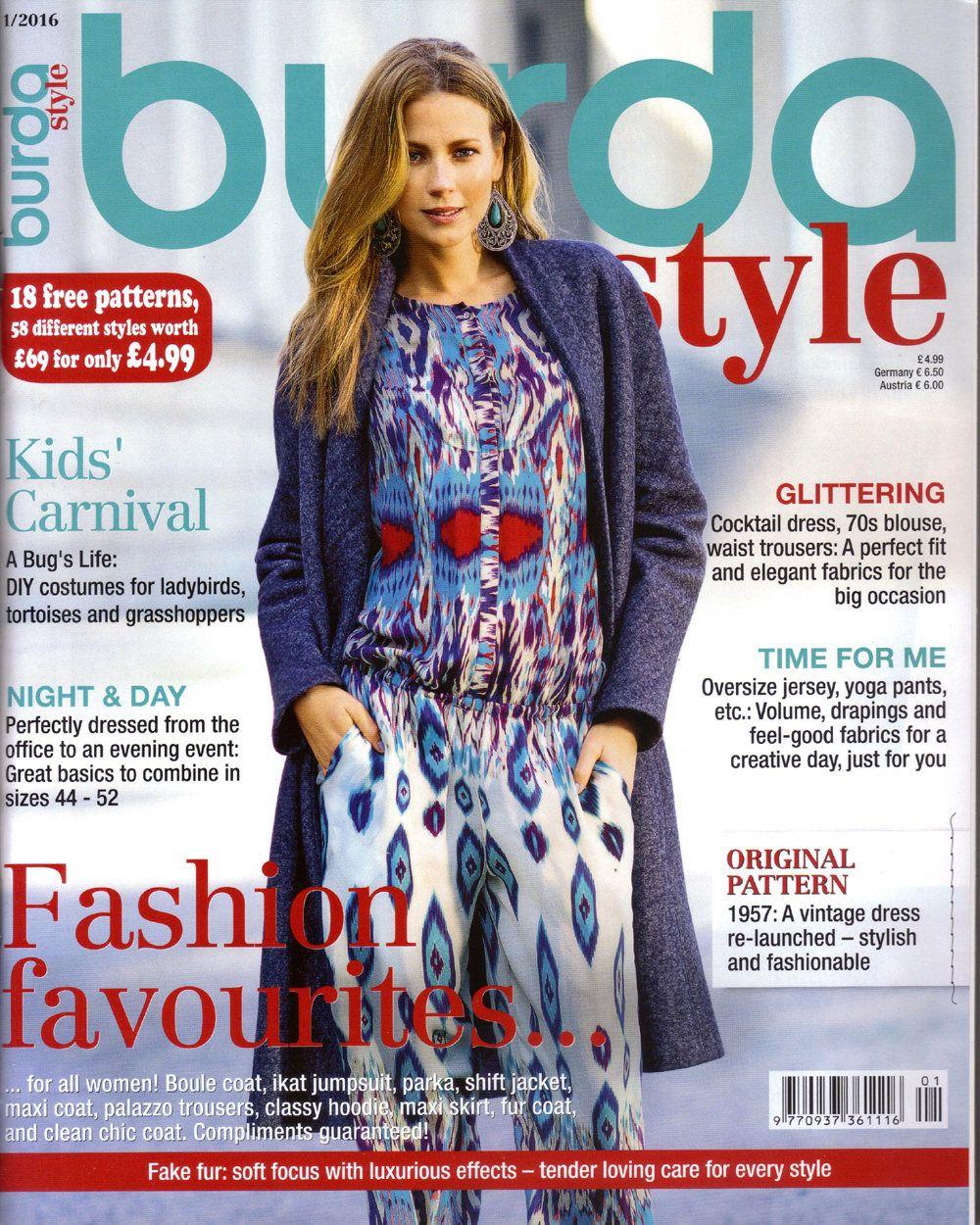 Burda style magazine 12016 english sewing patterns by burda style magazine 12016 english sewing patterns by honeyjamsuniques on etsy jeuxipadfo Image collections