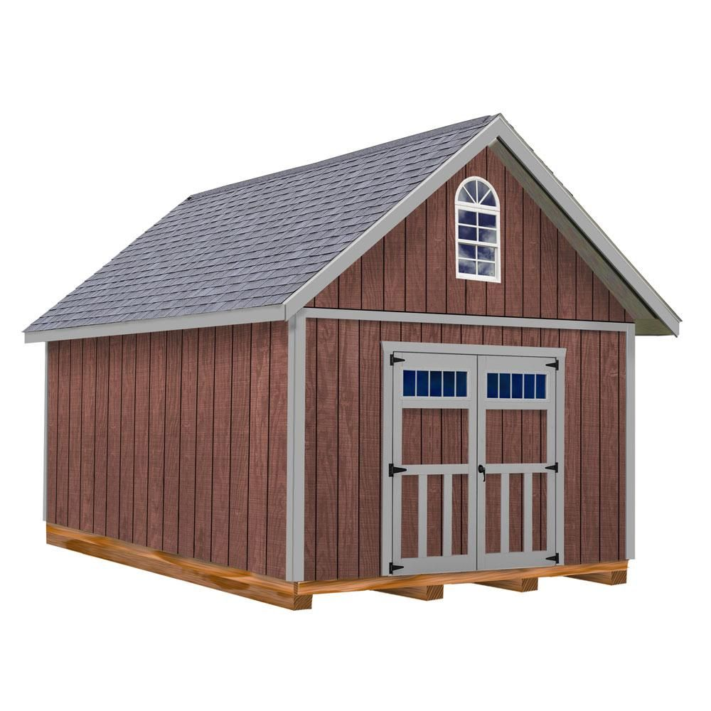 Best Barns Springfield 12 Ft X 16 Ft Wood Storage Shed Kit With Floor Sfield1216df In 2020 Wood Storage Sheds Shed Plans Wood Shed Plans