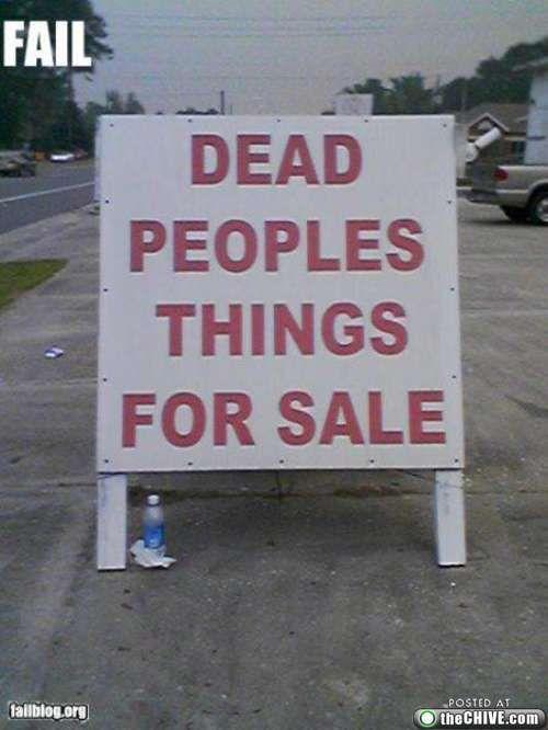 Dead people's things lol