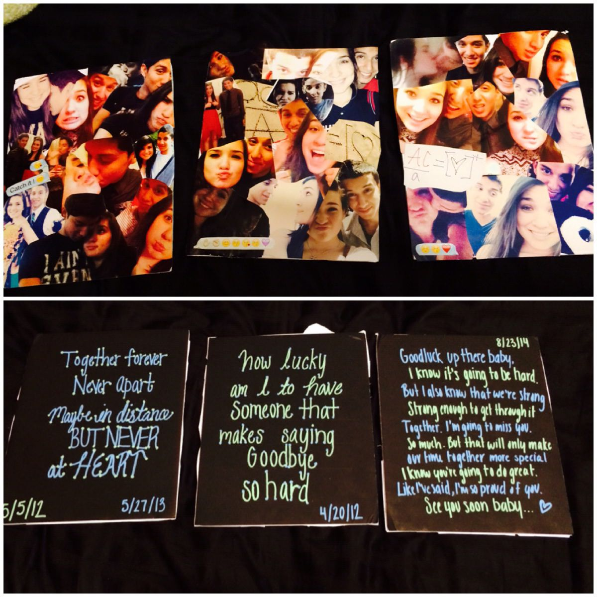 College Going Away Gift For The Boyfriend Collage Of Pictures Taken Over The Years Followed By Some Quotes A Heartf Going Away Gifts Best Friend Gifts Gifts