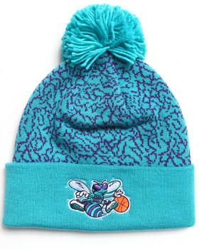 8e0d9f527ca Charlotte Hornets NBA Retro Crackle Knit Hat by Mitchell   Ness ...