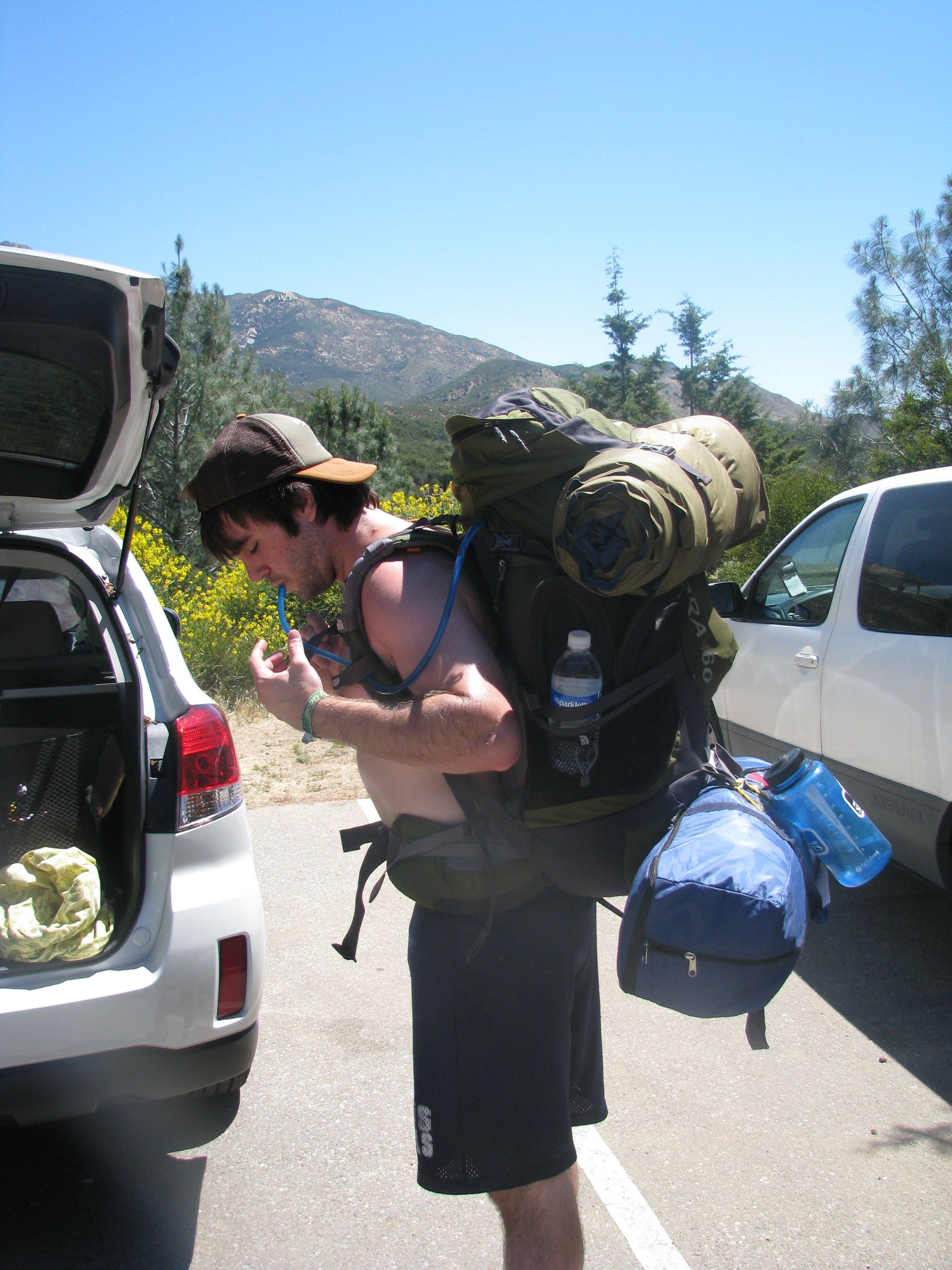 Took my mom backpacking in Ojai for her first time  Took her