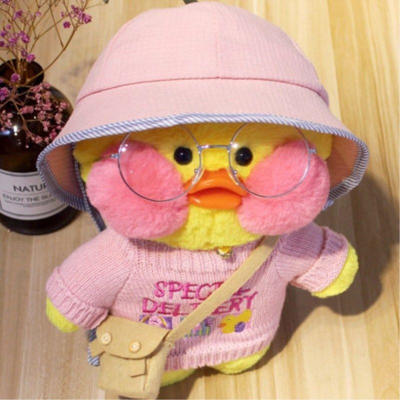 Cute LaLafanfan Cafe Duck Plush Toy Stuffed Soft K