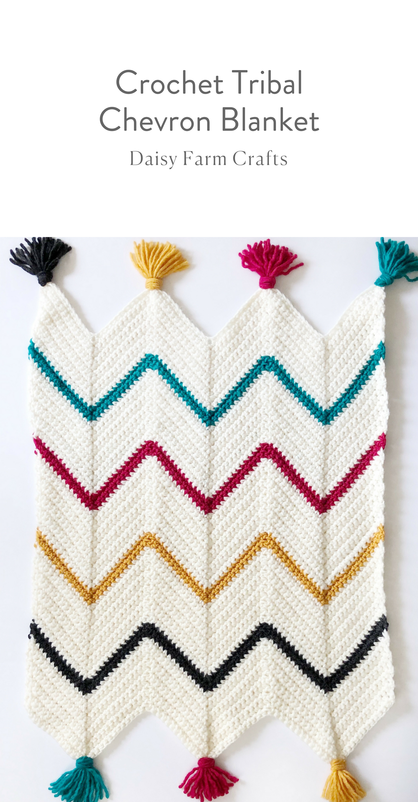 Free Pattern - Crochet Tribal Chevron Blanket | KNIT ME | Pinterest ...
