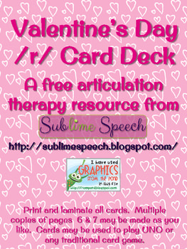 valentine 39 s day articulation card deck speech and language therapy speech language therapy. Black Bedroom Furniture Sets. Home Design Ideas