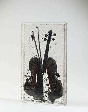 FERNANDEZ ARMAN/ found on www.kunzt.gallery / Colere de Paganini / Paganini's Anger, 2004 / Mixed media / 72 x 40 cm