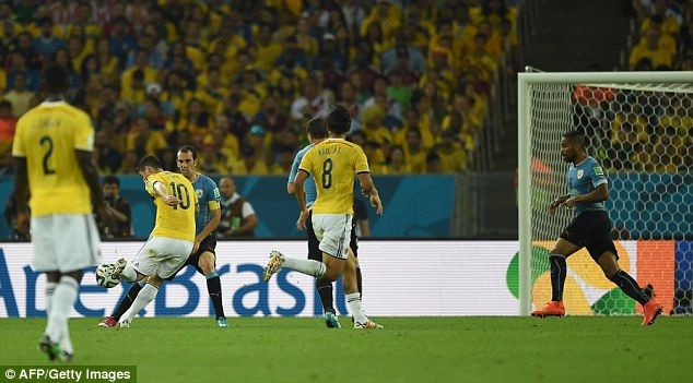 Colombias James Rodriguez Scores Best World Cup Goal Against Uruguay