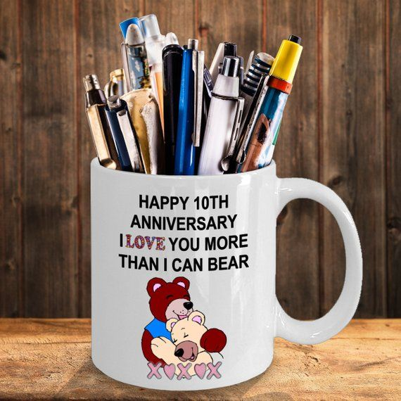 2nd Wedding Anniversary Gifts For Men: 10 Year 10th Happy Wedding Anniversary Customized