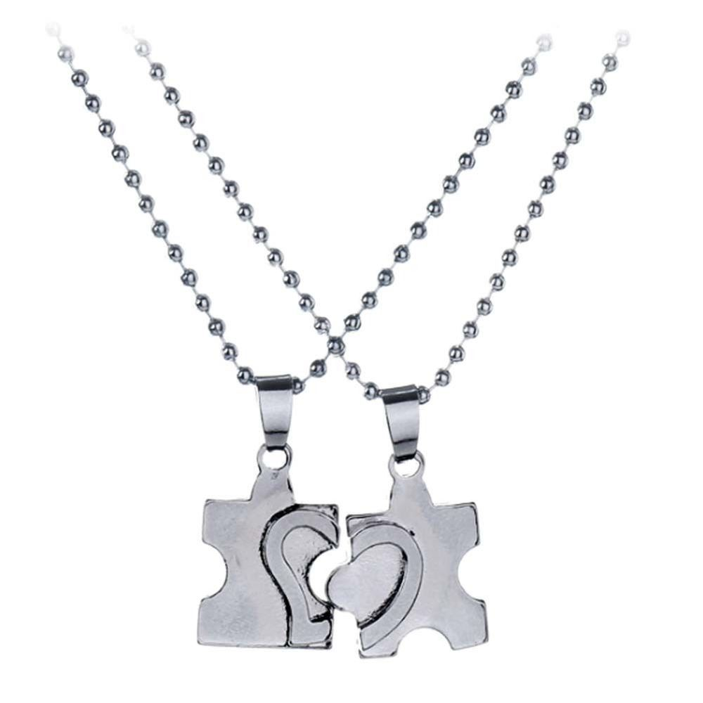 757a1bfa58 2pc Couple Puzzle Piece Necklace Set Matching Jigsaw Heart His and Hers  Jewelry #Unbranded #Pendant