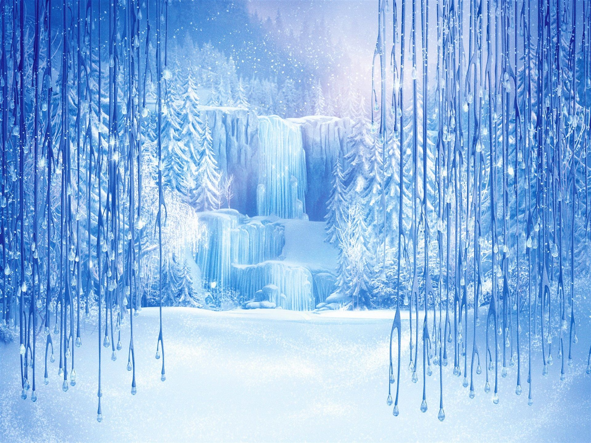 Frozen Elsa Ice Castle Wallpaper | Frozen Party ...