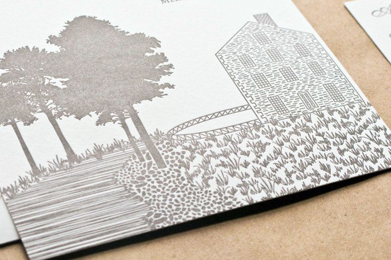 "love ""merriment to follow"" and the sketch of the historic mill. Do this with the barn... and put on top of the programs."