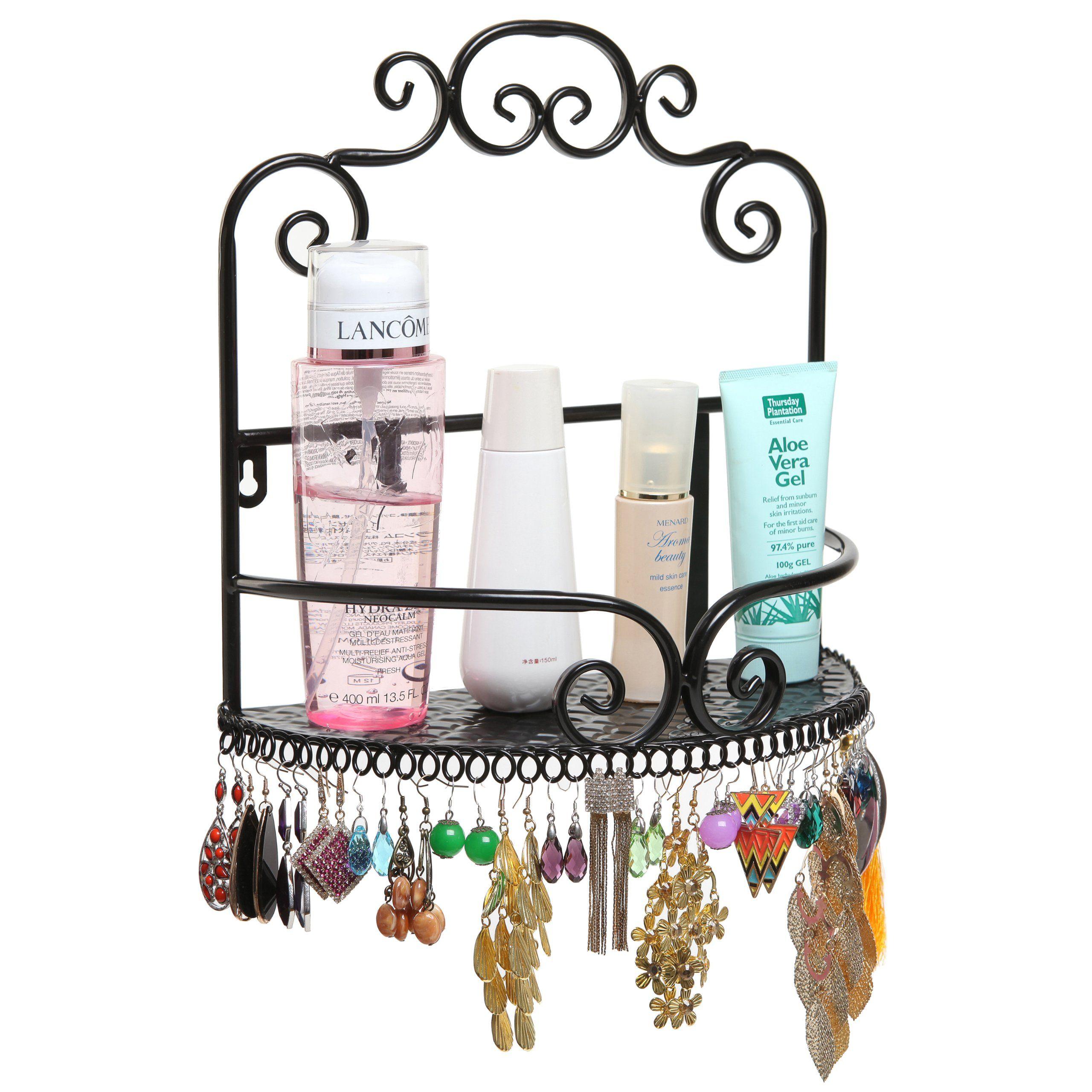 Elegant Decorative Wall Mounted Storage Display Shelf Rack Earring