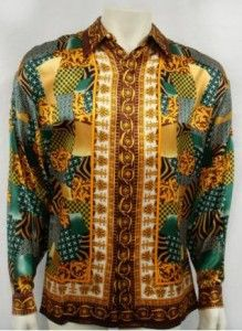 Silk shirts mens (better than Italian Versace) long sleeve ...