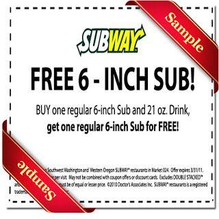 Subway Printable Coupon December 2016 | Coupon