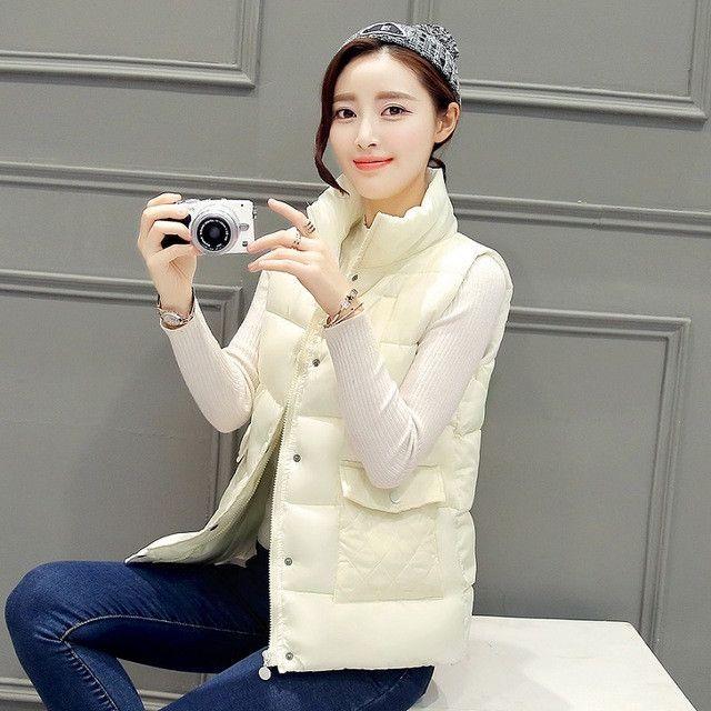 Winter Vests Waistcoat Outerwear Winter Vest Women Fashion Cotton Coats Women Winter Waistcoat Plus Size