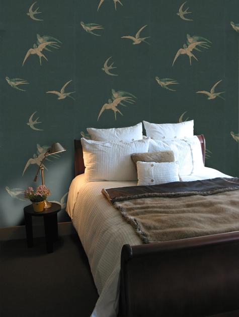 Sanderson Swallows Wallpaper - DVIWSW105