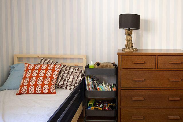 Wallpaper, Textiles, Side Table   Ideas For A Someday Big Boy Room Via  Makingitlovley