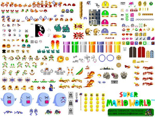 Free #Mario sprite sheet can use for only educational
