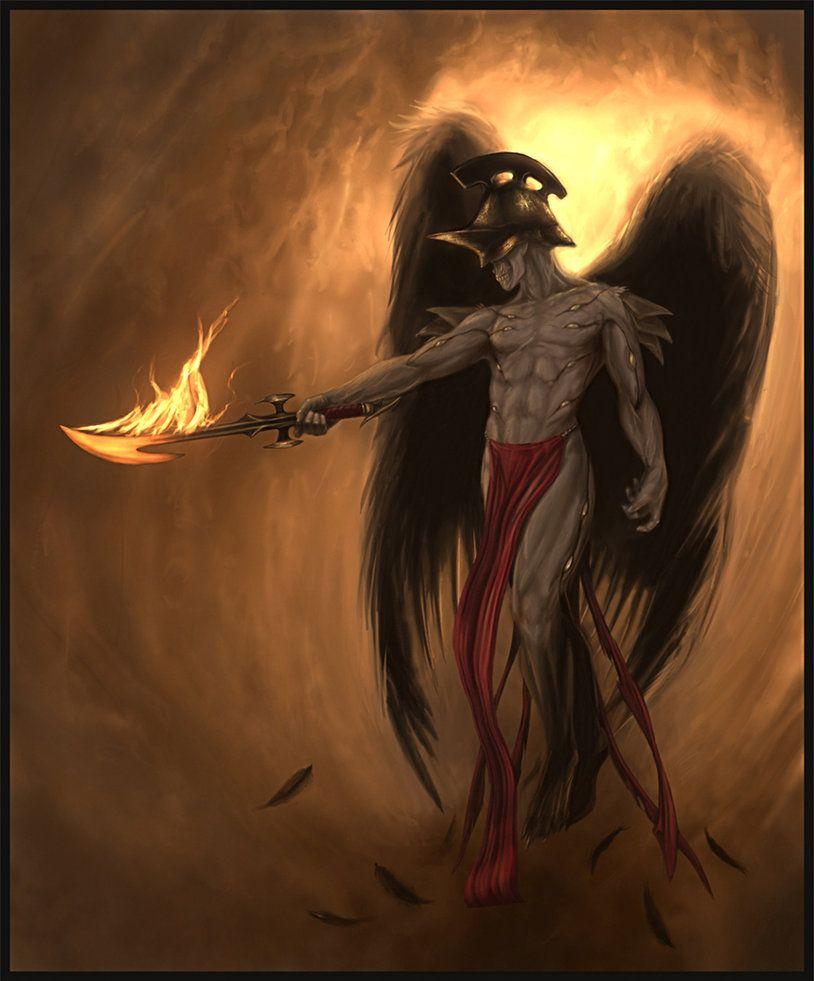 Samael | Fantasy art men, Art, Angel art