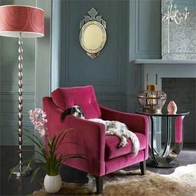 Graham & Green £210 inc | Eclectic chairs, Pink accent ...