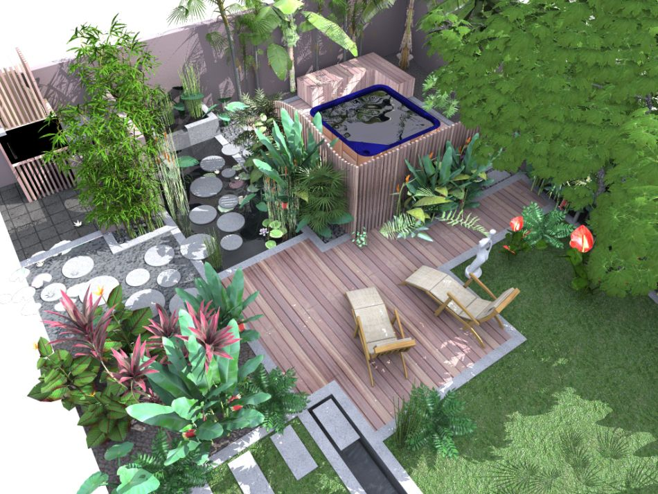 Paysagiste le de la r union cr ateur de jardins contemporains natural concept paysage for Jardin contemporain