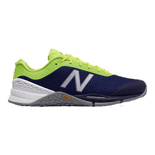 0e19a63f671e0 New Balance Men s MX40 2E Wide Width Training Shoes - Blue Lime Green Grey