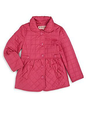 Urban Republic Toddler's & Little Girl's Bow-Trim Quilted Jacket - Pin