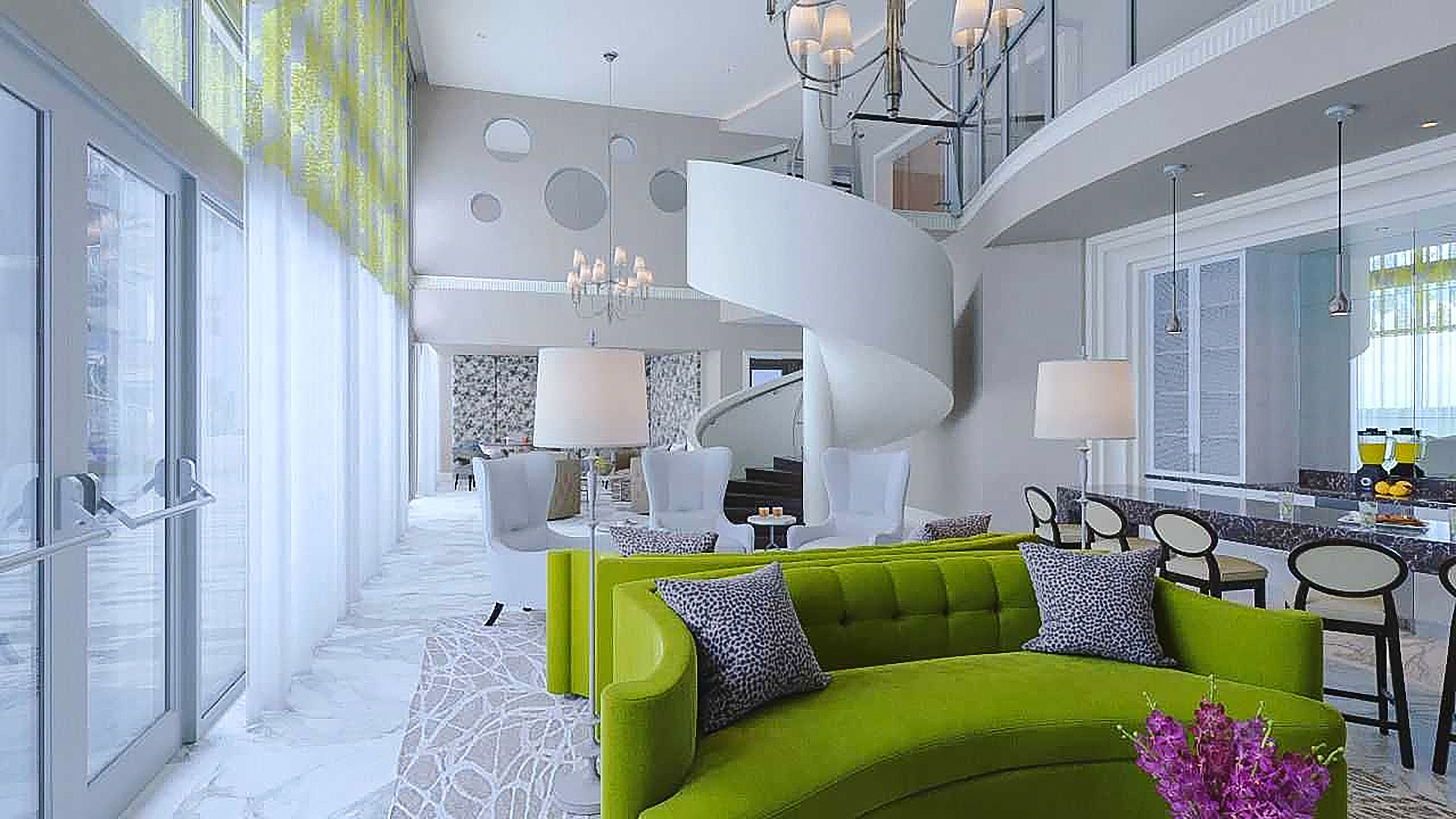 Apartment amenity space design by Beasley & Henley