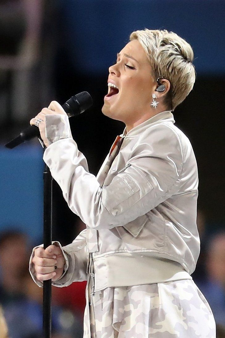 Pink, Who Sang the National Anthem at the Super Bowl ...