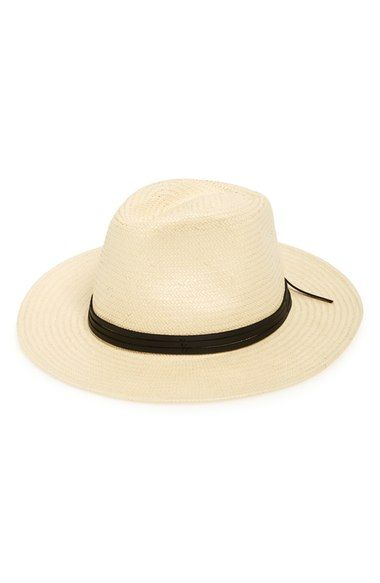 70365d3b9bb Brixton  Pacific  Straw Fedora available at  Nordstrom