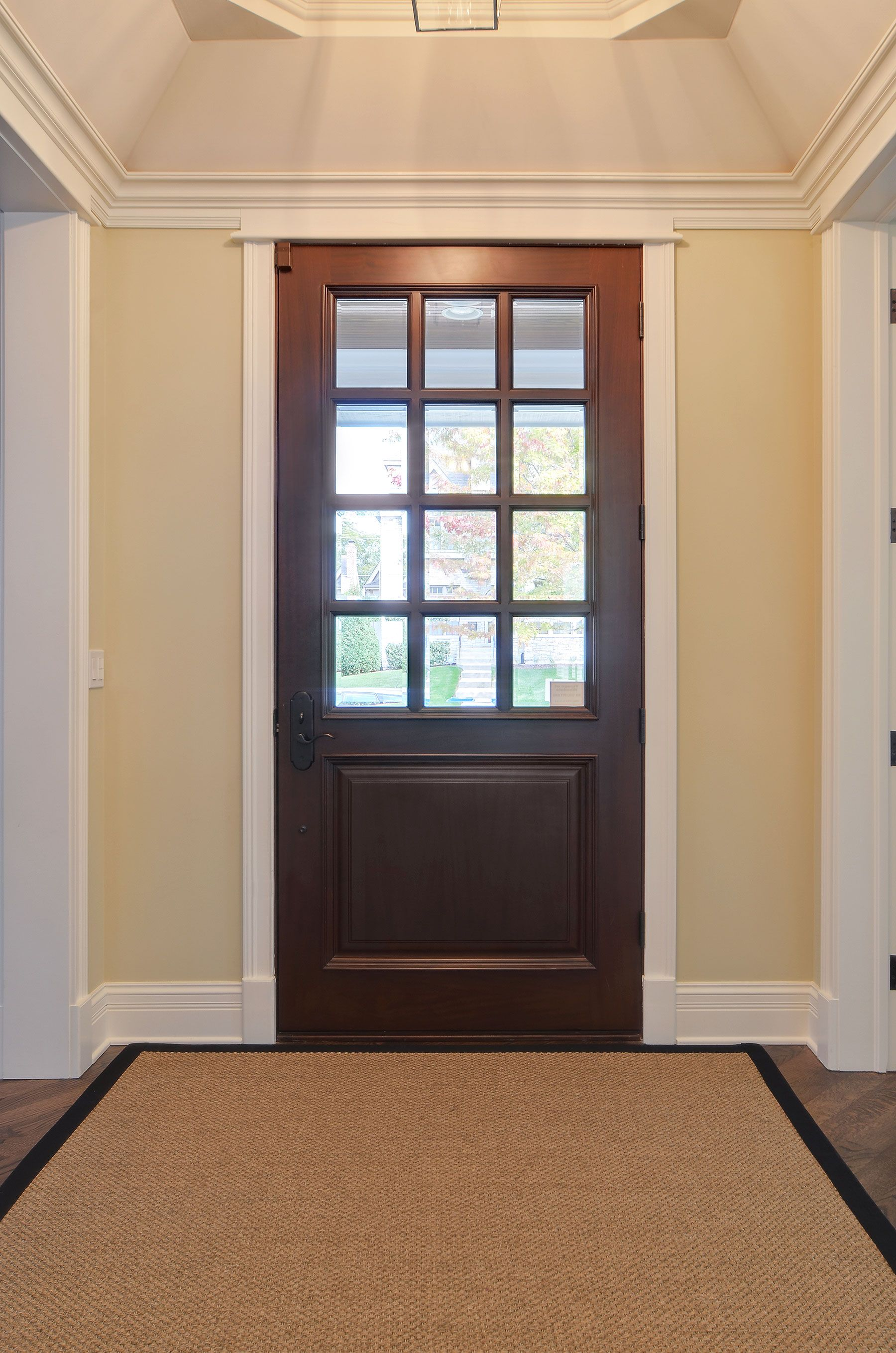 Solid Wood Front Entry Door Clear Glass 12 Lite Door Gallery In Stock And Custom In 2020 With Images Wood Front Entry Doors Mahogany Entry Doors Custom Exterior Doors