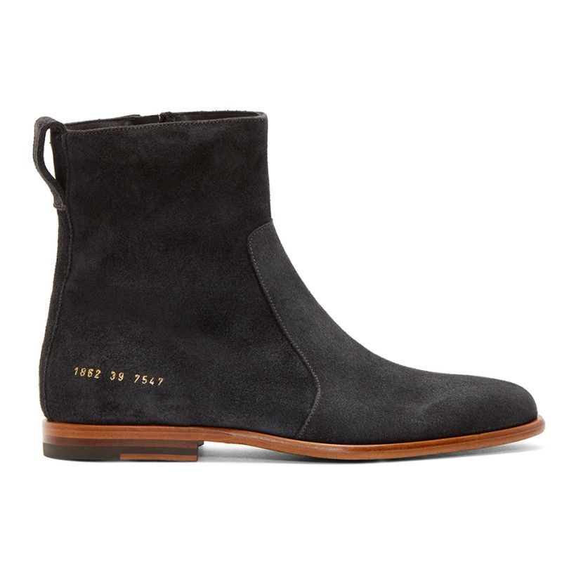 Black Common Projects Edition Suede Chelsea Boots Robert Geller nmy5X