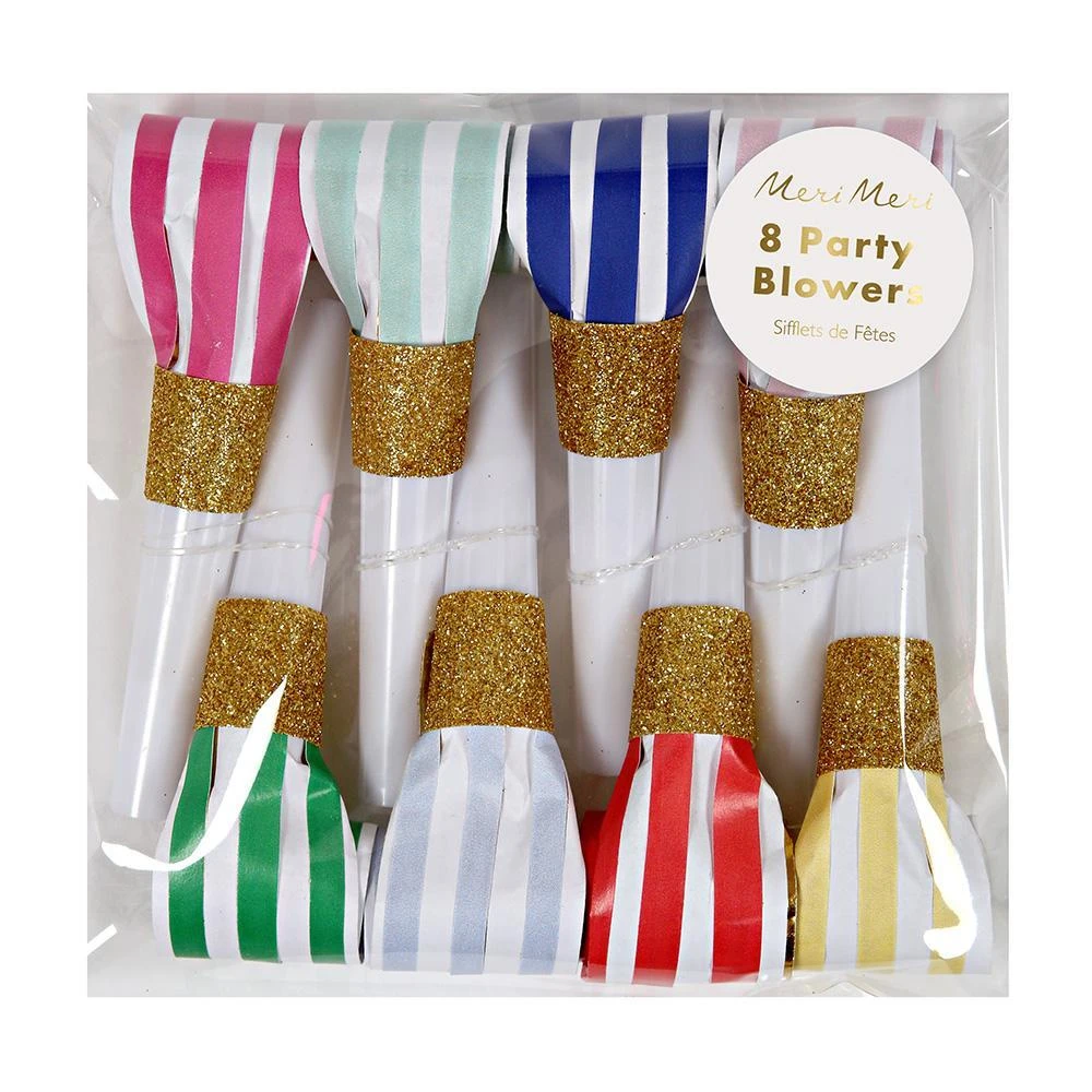 Bright Stripe Party Blowers Party Blowers Unicorn Theme Party Happy Birthday Parties
