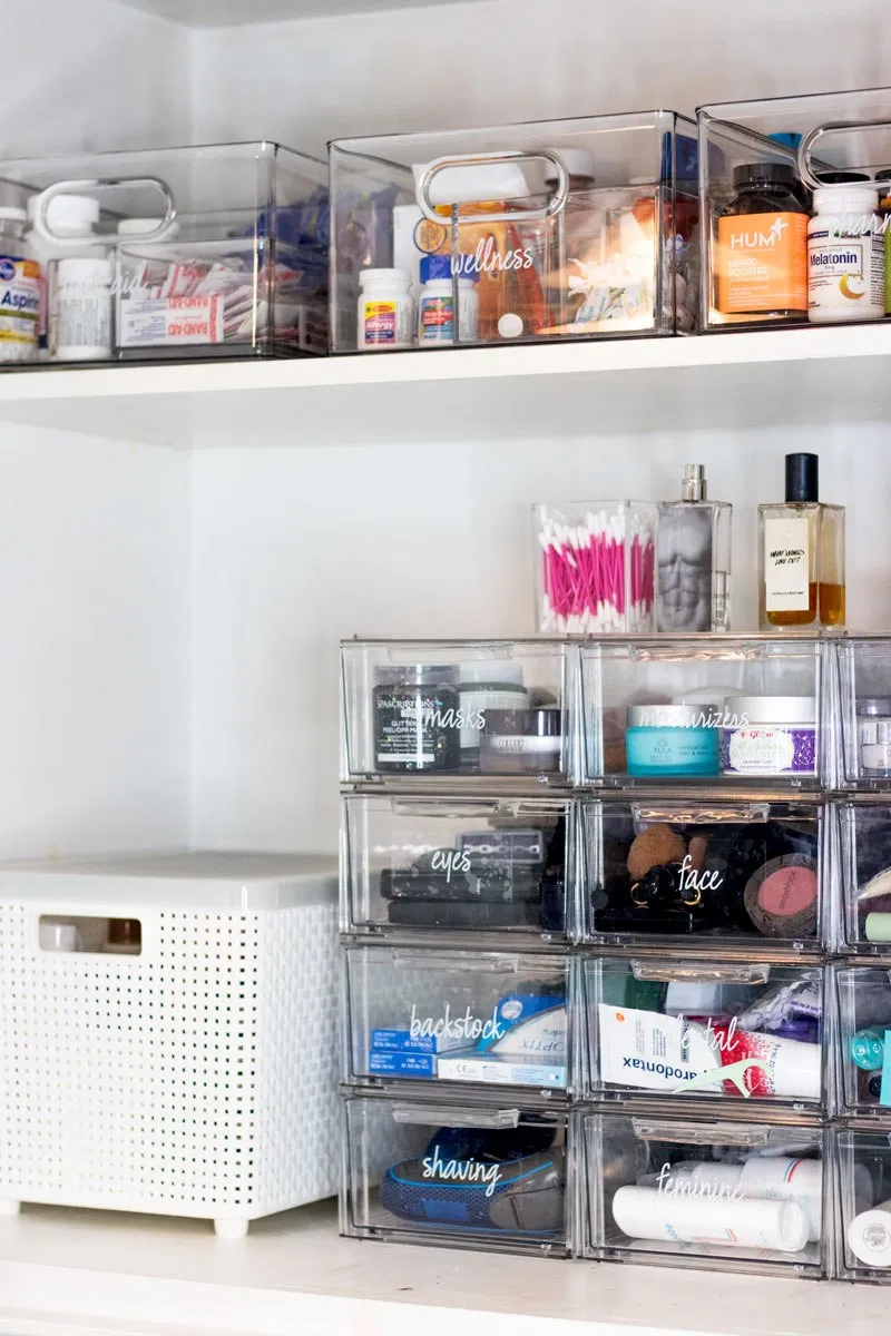 Photo of Bathroom Organization Tips + The Home Edit Container Store Collection