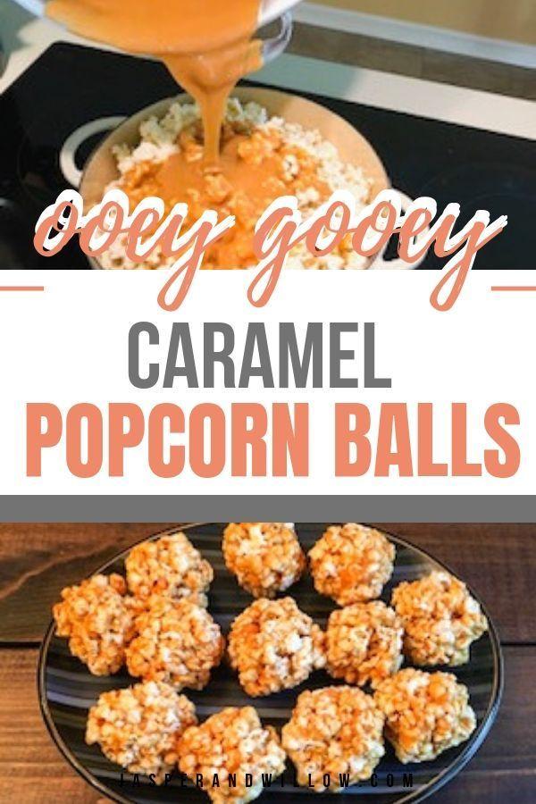 Caramel Popcorn Balls #footballpartyfood