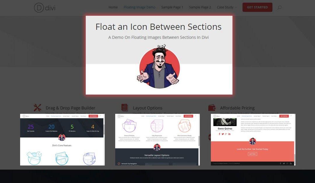 How To Float An Image In Between Sections In Divi Custom Web Design Wordpress Tutorials Beautiful Websites