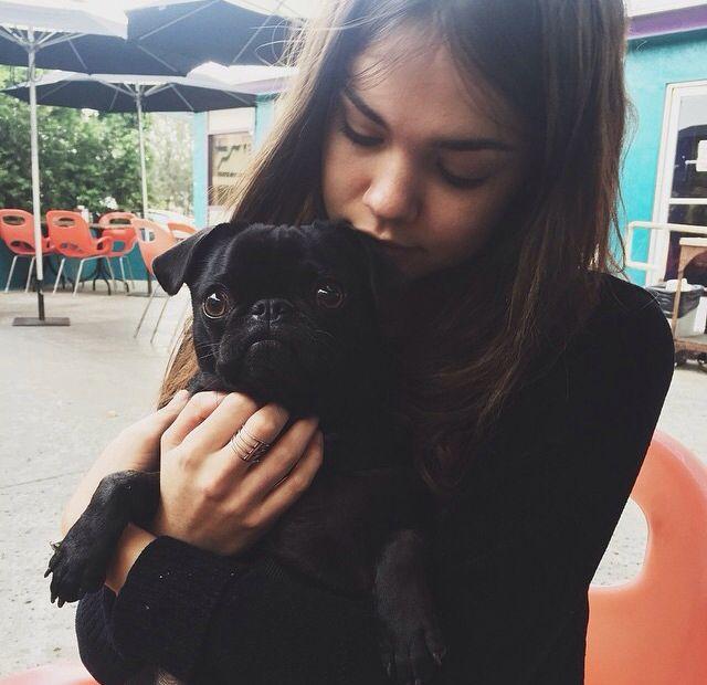 Maia Mitchell and her dog Sadie